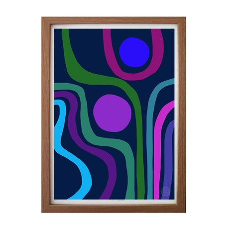 (CreativeWork) Peacock- abstract modernist fine art print Ed. 2 of 100 by Shana Danon. Print. Shop online at Bluethumb.