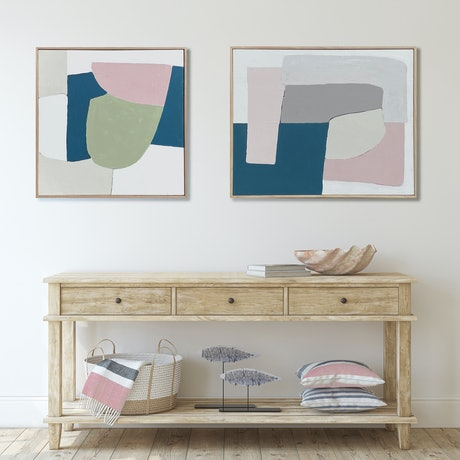 (CreativeWork) Escarpment 1 and 2 by David Weir. Acrylic Paint. Shop online at Bluethumb.