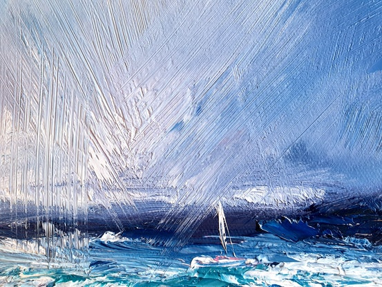 (CreativeWork) Adrift by Angela Hawkey. Oil Paint. Shop online at Bluethumb.
