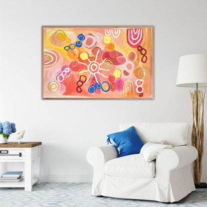 (CreativeWork) 'Velevety-Unconcious' by Karen Lee. Acrylic Paint. Shop online at Bluethumb.