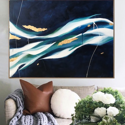 (CreativeWork) Changing Tide by Marnie McKnight. Acrylic Paint. Shop online at Bluethumb.