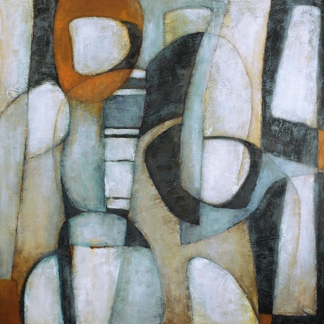 (CreativeWork) 'MONOLITHIC DREAM' by Wendy Wooden. Acrylic Paint. Shop online at Bluethumb.