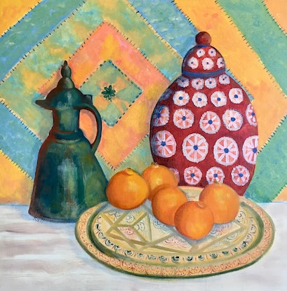 """(CreativeWork) """"Morocco 1"""" by Kerry Ann Harvey. Oil Paint. Shop online at Bluethumb."""