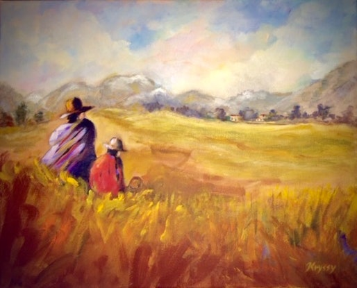 (CreativeWork) HOMECOMING by Kryssy Byrne. Oil Paint. Shop online at Bluethumb.