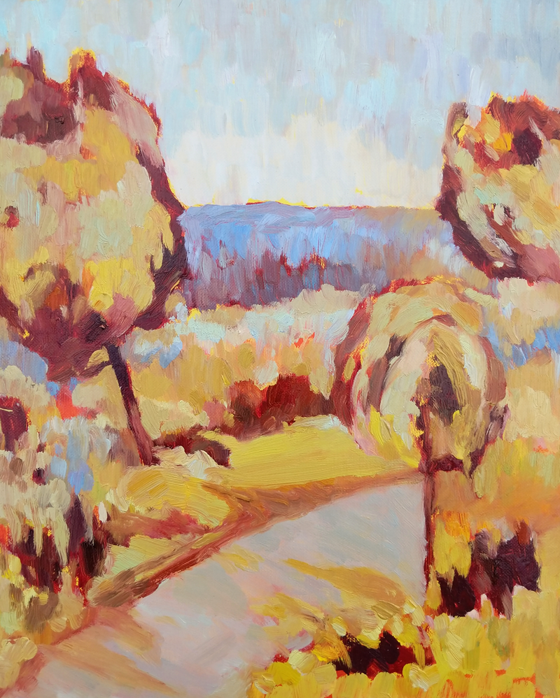 (CreativeWork) The Road  by Amanda Cutlack. Oil Paint. Shop online at Bluethumb.