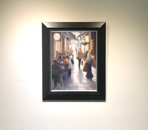 (CreativeWork) City Life by Di King. Oil Paint. Shop online at Bluethumb.