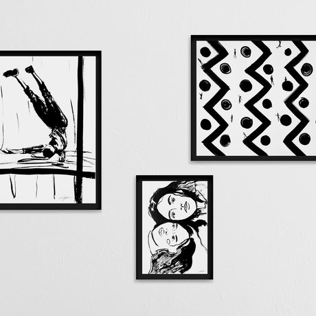 (CreativeWork) Gravity - collection of 3 paintings by Maryia Yepanchyntsava. Other Media. Shop online at Bluethumb.