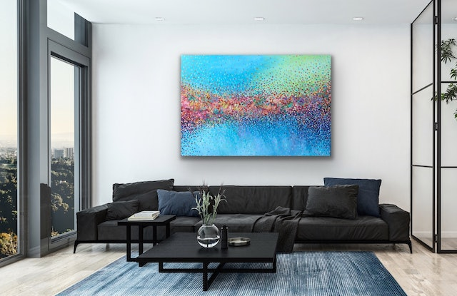 (CreativeWork) Jewels of Paradise  by Theo Papathomas. Acrylic Paint. Shop online at Bluethumb.