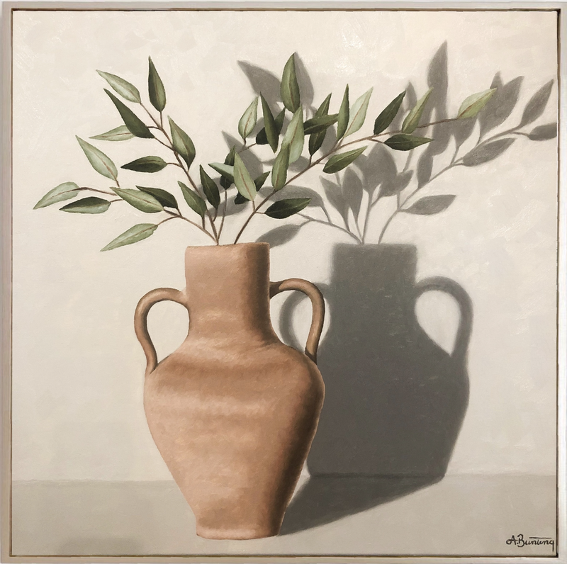 (CreativeWork) Eucalyptus and Terracotta  by Ashley Bunting. Oil Paint. Shop online at Bluethumb.