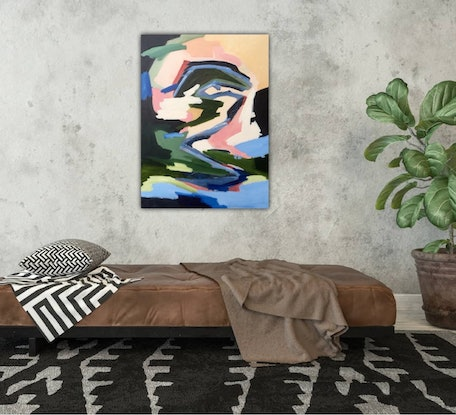 (CreativeWork) Southern Highlands by Meredith Howse. Acrylic Paint. Shop online at Bluethumb.
