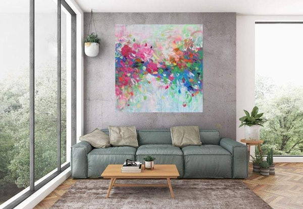 (CreativeWork) A Love Like No Other -Large Square  by Belinda Nadwie. Oil Paint. Shop online at Bluethumb.