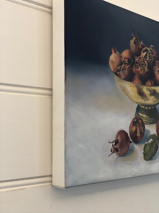 (CreativeWork) Medlars by Melissa Kenihan. Oil Paint. Shop online at Bluethumb.