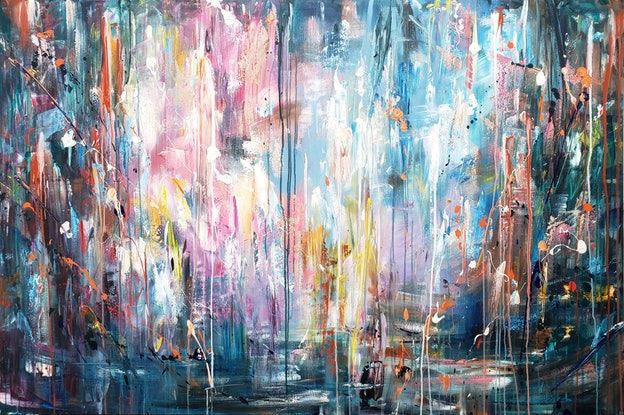 "(CreativeWork) Abstract ""Speak truth"" by Alina Zorkina. Acrylic Paint. Shop online at Bluethumb."
