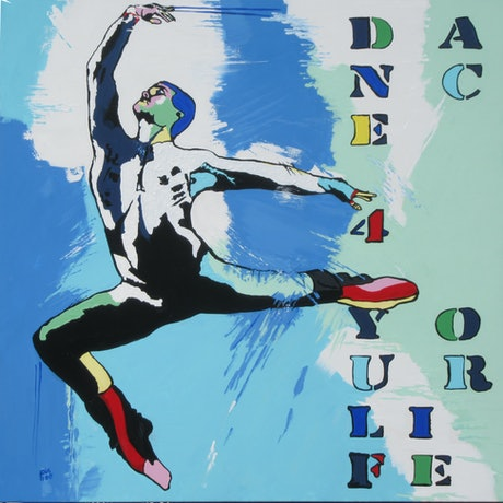 (CreativeWork) Dance for your life #2 by Lesley Taylor. Acrylic Paint. Shop online at Bluethumb.