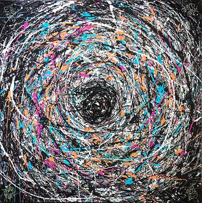 (CreativeWork) In A Spin by David Clare. Mixed Media. Shop online at Bluethumb.