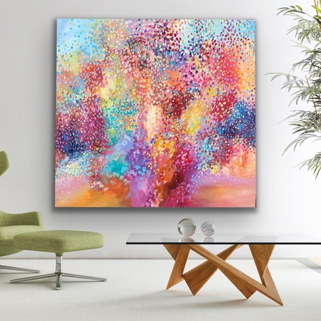 (CreativeWork) Love and Beauty  by Theo Papathomas. Acrylic Paint. Shop online at Bluethumb.