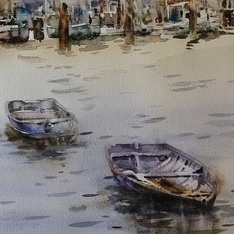 (CreativeWork) Boats by Sulochini Thrisharika. Watercolour Paint. Shop online at Bluethumb.