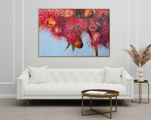 (CreativeWork) Flowering Gum by Nicole Reed. Oil Paint. Shop online at Bluethumb.