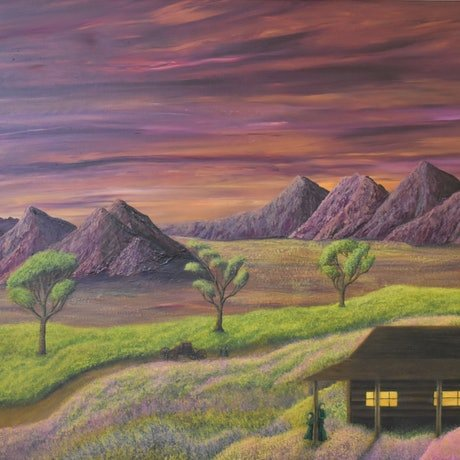 (CreativeWork) Castian's Home by Brandon Wockner. Acrylic Paint. Shop online at Bluethumb.