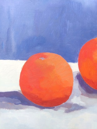 (CreativeWork) Ode to oranges  by Amanda Cutlack. Oil Paint. Shop online at Bluethumb.