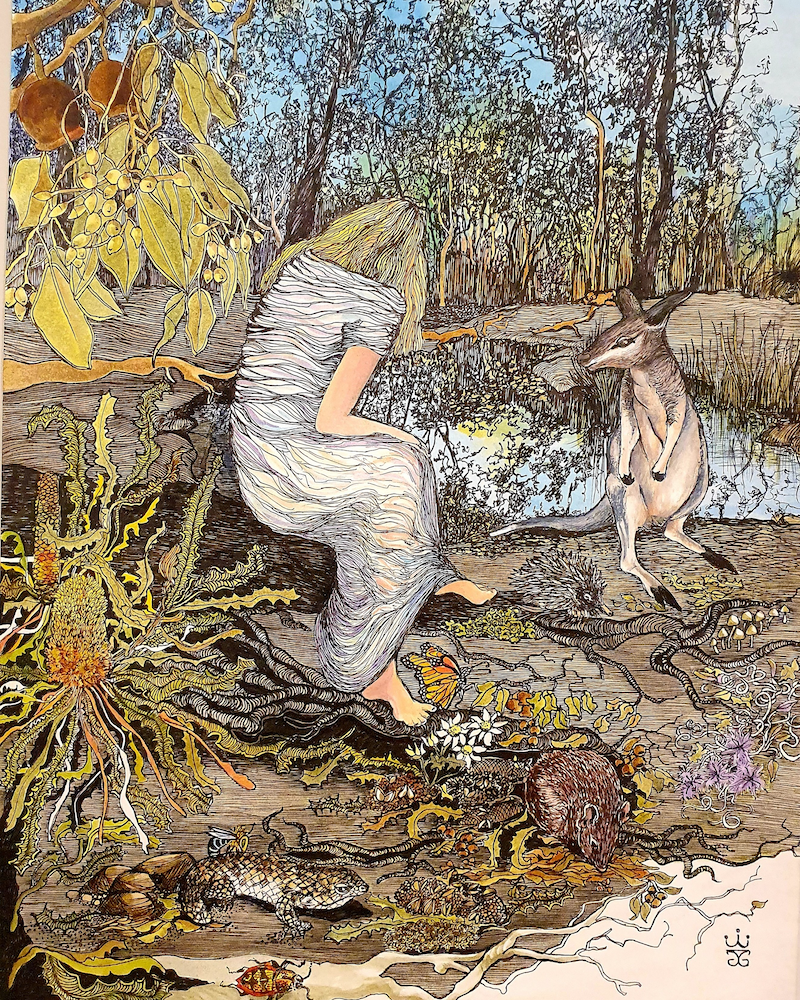 """(CreativeWork) """"Contemplation"""" Ed. 1 of 30 by Jeanette Giroud. Print. Shop online at Bluethumb."""