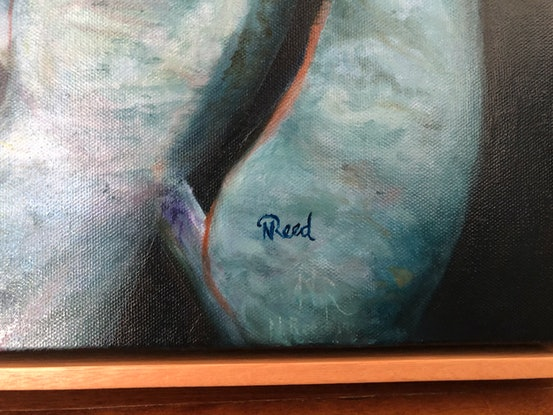 (CreativeWork) Raindrops on the Mottlecah by Nicole Reed. Oil Paint. Shop online at Bluethumb.