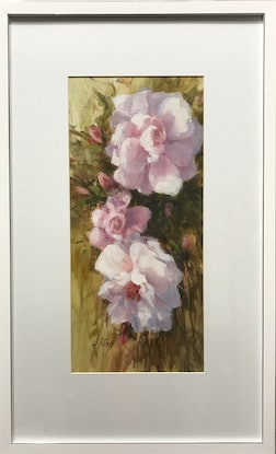 (CreativeWork) Summer Bloom by Di King. Oil Paint. Shop online at Bluethumb.