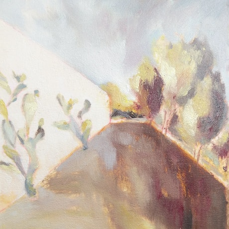 (CreativeWork) The path  by Amanda Cutlack. Oil Paint. Shop online at Bluethumb.
