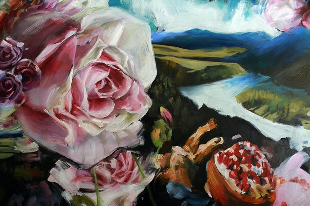 (CreativeWork) Spring Reverie by Kathryn Fenton. Oil Paint. Shop online at Bluethumb.