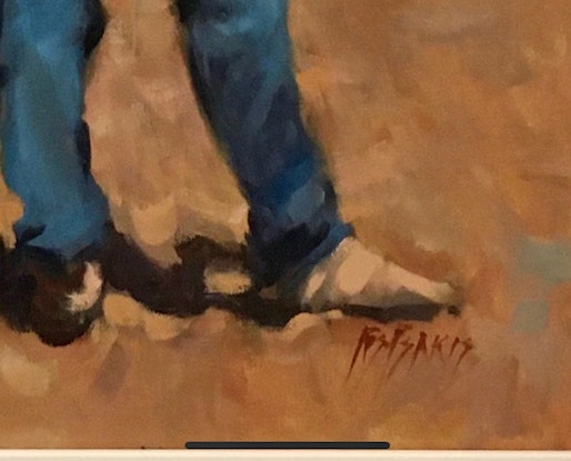 (CreativeWork) Rodeo by Ros Psakis. Oil Paint. Shop online at Bluethumb.