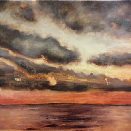 (CreativeWork) Reminiscing  by Jennifer Prior. Oil Paint. Shop online at Bluethumb.