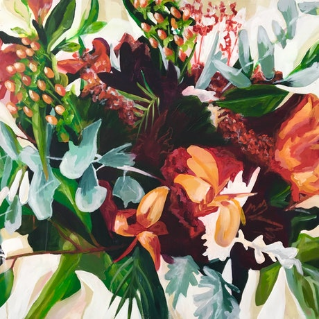 (CreativeWork) Something Foraged, Something New.  by Sarah Abbott. Acrylic Paint. Shop online at Bluethumb.