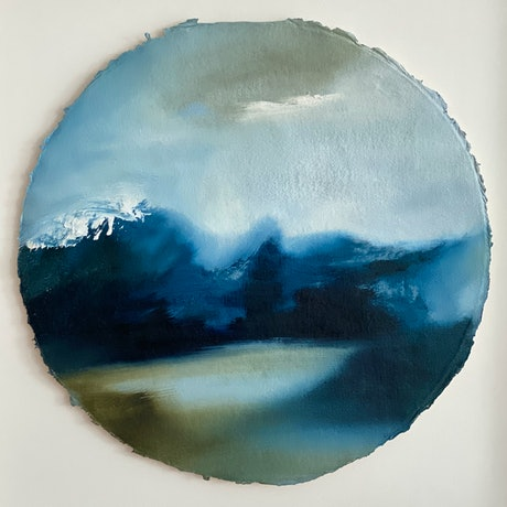 (CreativeWork) Inlet by Joanne Duffy. Oil Paint. Shop online at Bluethumb.