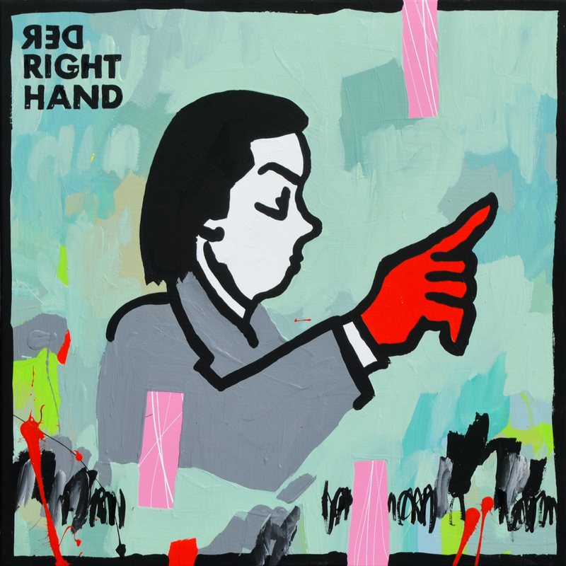 (CreativeWork) Red Right Hand by Ben Tankard. Acrylic Paint. Shop online at Bluethumb.