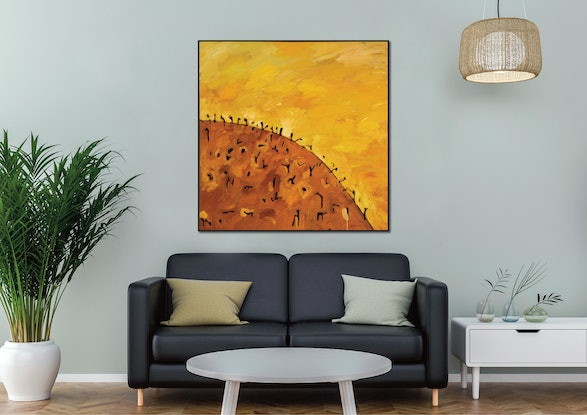 (CreativeWork) Lost Horizon I by Michael Wolfe. Acrylic Paint. Shop online at Bluethumb.