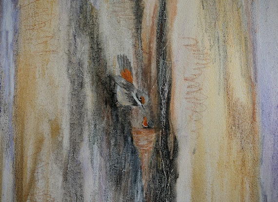 (CreativeWork) The Promise of Spring by Clare Riddington Jones. Mixed Media. Shop online at Bluethumb.