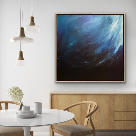 (CreativeWork) THE DEPTHS   by Uschi Novinc. Acrylic Paint. Shop online at Bluethumb.