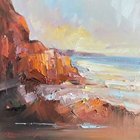 (CreativeWork) Cape Leveque No 10 by Liliana Gigovic. Oil Paint. Shop online at Bluethumb.