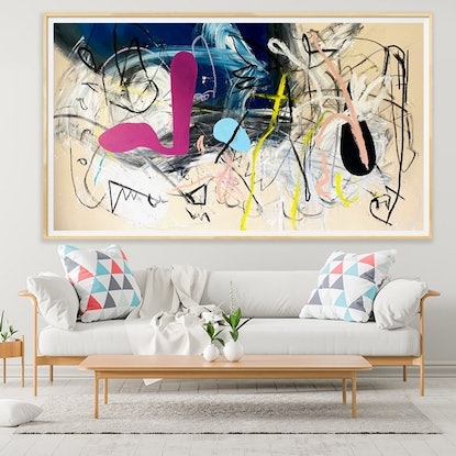 (CreativeWork) Jazz on the Shore Line  by Shane Bowden. Mixed Media. Shop online at Bluethumb.