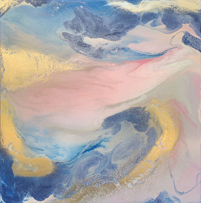 (CreativeWork) Drifting Home by Rachael Higby. Acrylic Paint. Shop online at Bluethumb.
