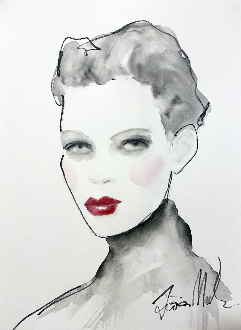 (CreativeWork) Starlet by Fiona Maclean. Watercolour Paint. Shop online at Bluethumb.