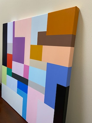 (CreativeWork) Manhattan by Susie Monte. Acrylic Paint. Shop online at Bluethumb.