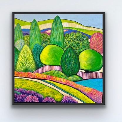 (CreativeWork) BEYOND THE CITY LIMITS by Helen Stephens. Acrylic Paint. Shop online at Bluethumb.