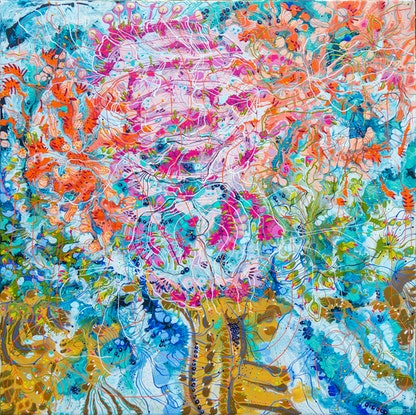 (CreativeWork) Spring is ready to Bloom by Tina Dinte. Acrylic Paint. Shop online at Bluethumb.