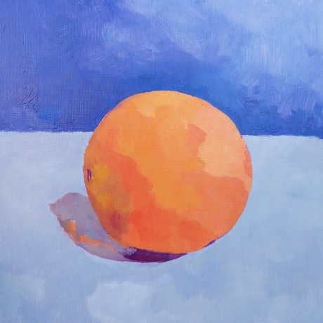 (CreativeWork) Orange by Amanda Cutlack. Oil Paint. Shop online at Bluethumb.