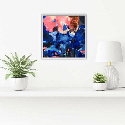 (CreativeWork) Crystalline (Includes Framing) by Tulika Das. Acrylic Paint. Shop online at Bluethumb.