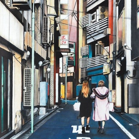 (CreativeWork) Harajuku by Erin Nicholls. Drawings. Shop online at Bluethumb.