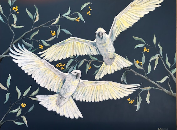 (CreativeWork) In Flight by Emma Nancarrow. Acrylic Paint. Shop online at Bluethumb.