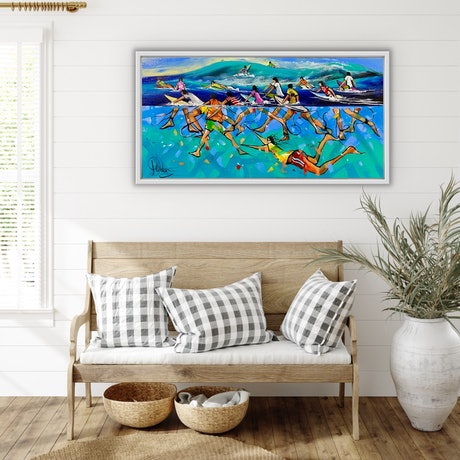 (CreativeWork) 'Under Current' Original Artwork  by Donald James Waters OAM. Acrylic Paint. Shop online at Bluethumb.