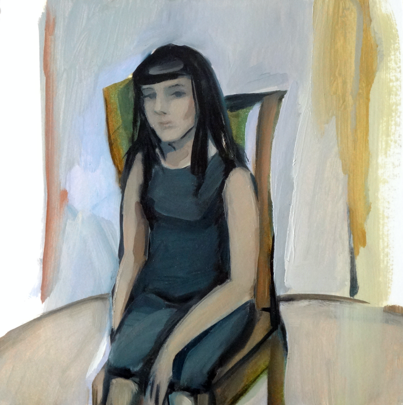 (CreativeWork) Girl on the chair, study by Liza Merkalova. Oil Paint. Shop online at Bluethumb.